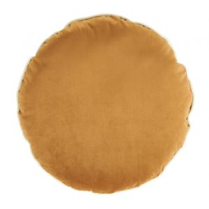 COUSSIN ROND VELOURS CAMEL