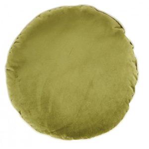 coussin rond velours vert mousse