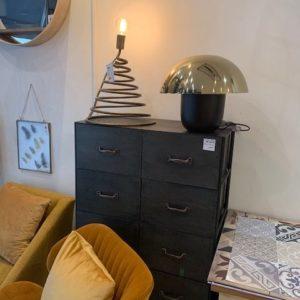 Vente en ligne Lampe Champignon Noire/Dorée - Boutique Chez Nous